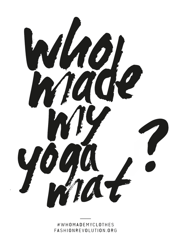Who made my yoga mat? – we did that!