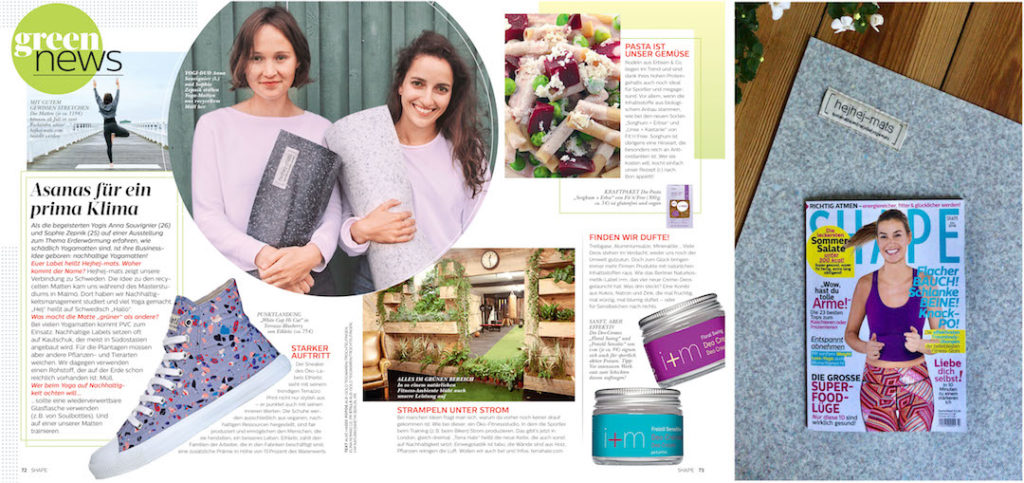 hejhej-mats are part of the green news in the Shape magazine.