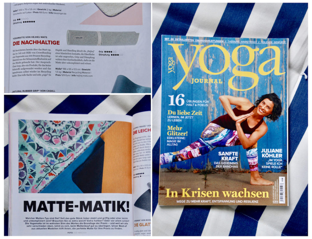 In the yoga mat test of the Yoga Journal, the hejhej-mats yoga mat has cut off as the most sustainable yoga mat.