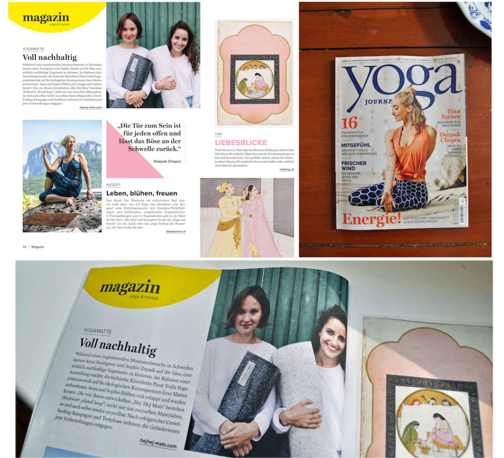 hejhej-mats is titled as fully sustainable in the Yoga Journal.