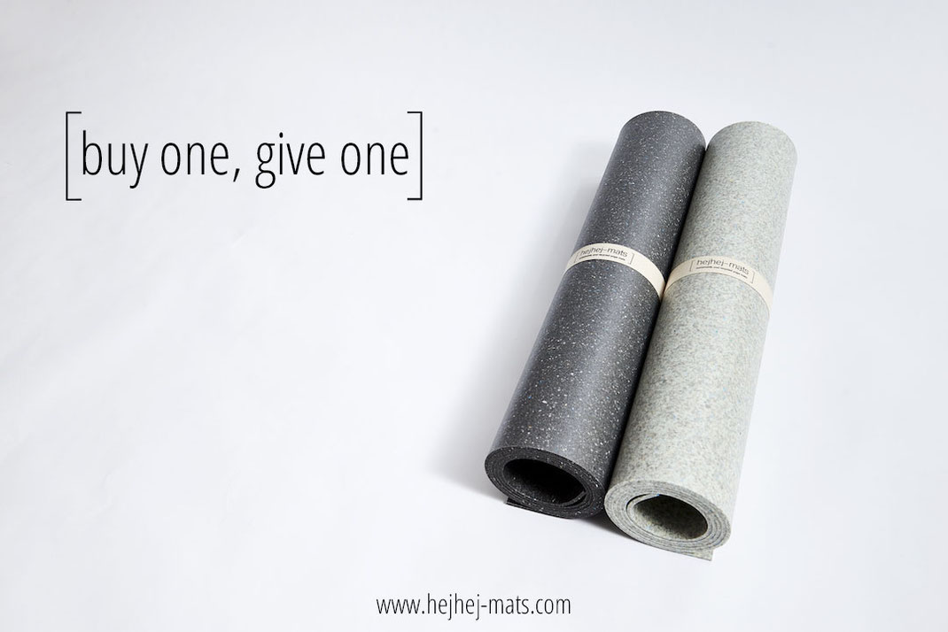 Social sustainability: you buy a yoga mat, we donate one.