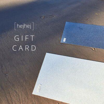 Verschenke einen Gutschein für eine hejhej-mat.