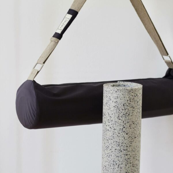 The hejhej duo includes the yoga mat and bag made from recycled materials.
