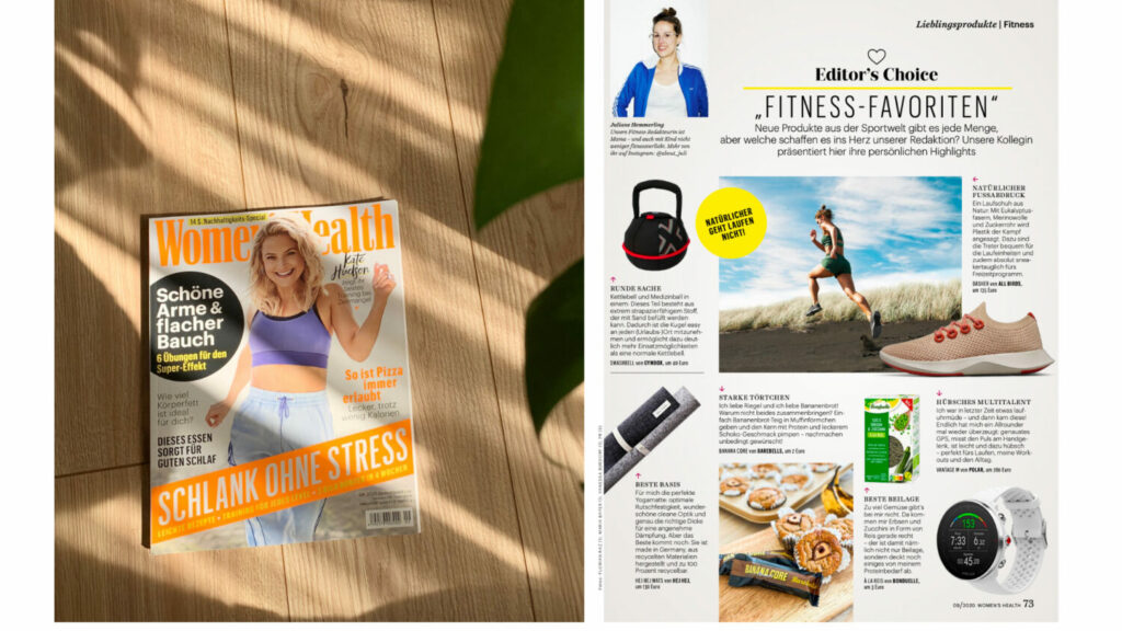 hejhej-mats in der Women's Health September Ausgabe