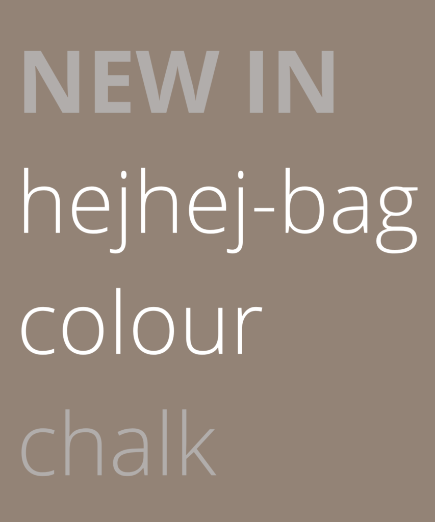 Text block that says: There is a new bag for the closed-loop yoga mats from hejhej.