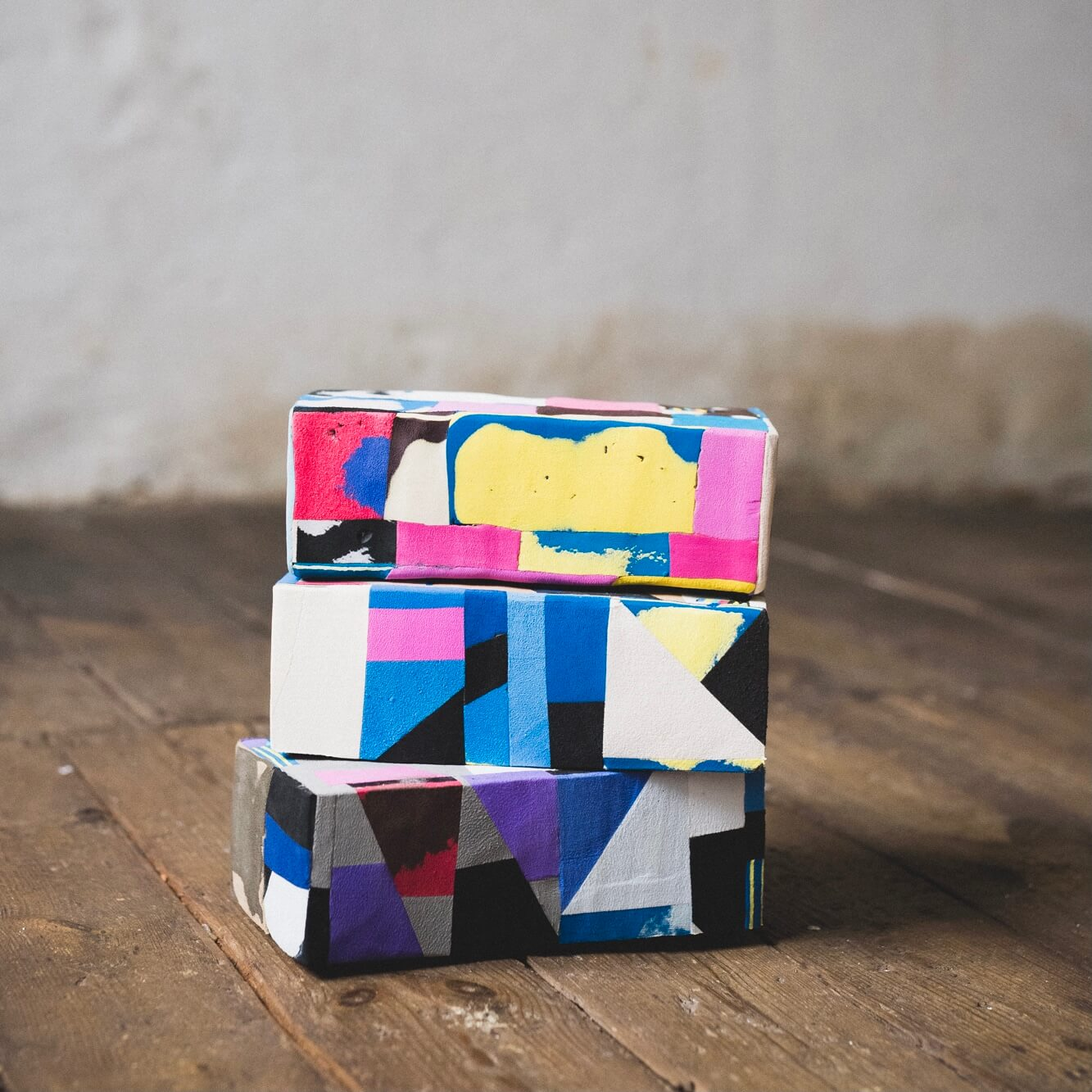A yoga block made out of flip-flops