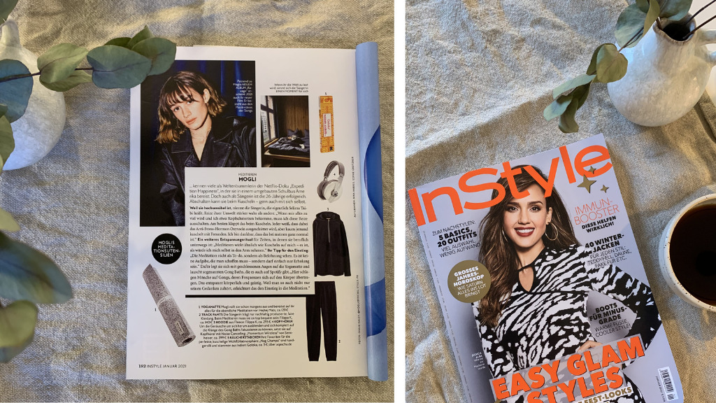 InStyle magazine December issue 2020 and page 182 with the rather light hejhej-mat