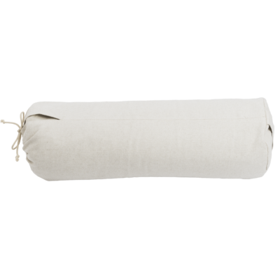 The hejhej bolster can be seen completely. It is naturally colored and looks very soft.