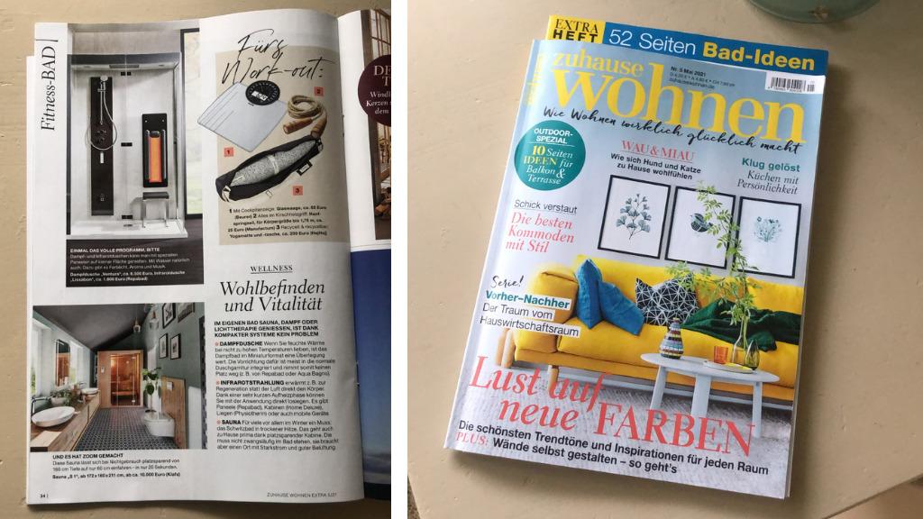 zuhause wohnen Magazin Cover und hejhej-Erwähnung im Mai 2021