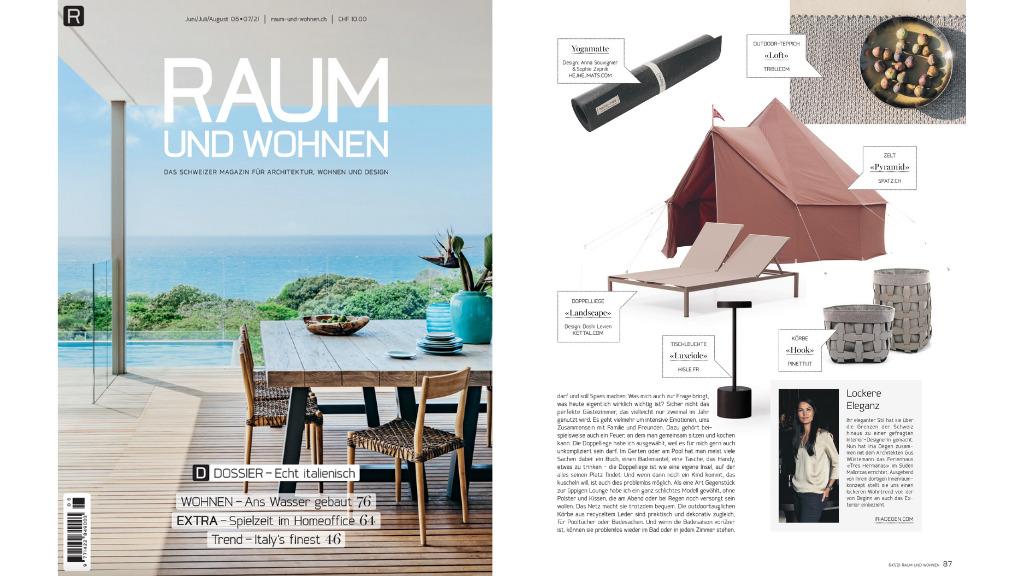 Raum und Wohnen Magazin Sommer 2021 Ausgabe Titelbild mit Ausblick auf das Meer